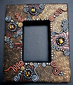 Polymer clay photo frame