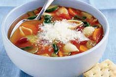 Hearty Minestrone Soup recipe #HealthyLivingRecipes