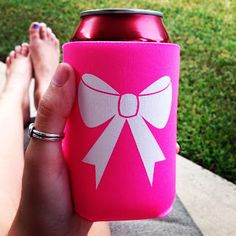 Get your bow koozie now! Order at etsy.com/shop/bpsg Bows, Pearls & Sorority Girls