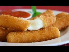 fingers de queso / palitos de queso - YouTube