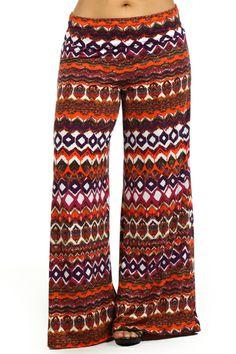 Plus Size Wide Leg Fold Over High Waist Palazzo Lounge Pants