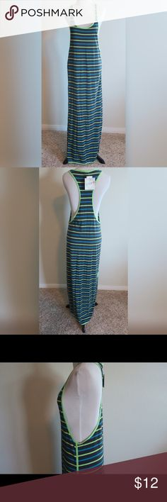 Sexy Long Striped Maxi Dress Striped Racerback Maxi Dress with slits on both sides. Derek Heart Dresses Maxi