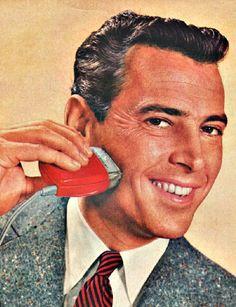 vintage illustration man shaving with electric razor Shaving Razor, Wet Shaving, Art Of Manliness, Mid Century Style, Indie, Retro, People, Electric Razors, Mens Razors