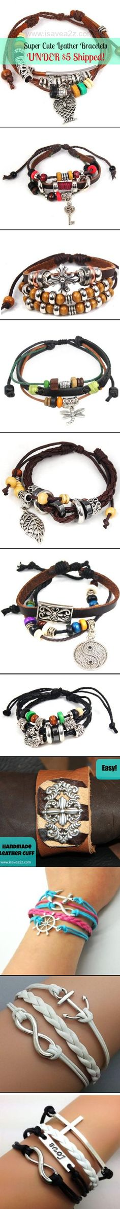 Very Trendy Bracelets that would be an EASY DIY project!!!
