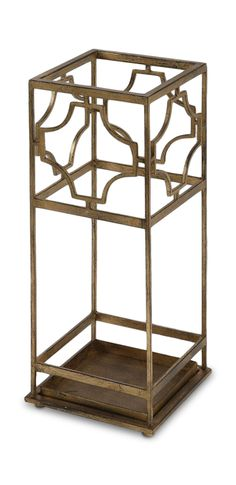 This unique Genell Antiqued Gold Leaf Iron Umbrella Stand will add a stylish touch to your décor. The hand forged gold leafed iron features moderate antiquing Silver Furniture, Entryway Furniture, Pipe Furniture, Accent Furniture, Rustic Furniture, Cool Furniture, Furniture Stores, Gold Rooms, Home Decor Store