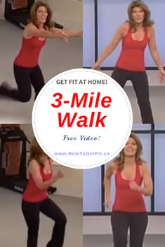 Do you love walking, but the weather's frightful? With this free fun video, you can accomplish a walk in the comfort of your own home. Start walking at home today! Fitness Workout For Women, Fitness Tips, Health Fitness, Fitness Senior, Leslie Sansone, Walking Exercise, Walking Workouts, Youtube Workout, Keep Fit