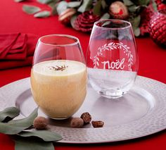 Happy Elf Eggnog Cocktail Recipe via Cost Plus World Market >> #WorldMarket Holiday Entertaining