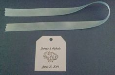 Heart Themed Wedding Inspiration and Ideas WEDDING FAVOR TAGS WITH STAMPED STYLE INTERTWINED HEARTS DESIGN