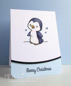 The Card Grotto: Winter Penguin