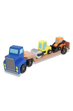 Free shipping and returns on Melissa & Doug Wooden Vehicle Carrier at Nordstrom.com. Two brightly painted construction vehicles roll up onto the ramp of the truck and away they go.