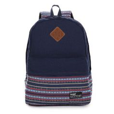 Amazon.com: Icon Best Canvas Backpack Cute School Bag for Girls Vintage Camping Backpack (Dark-blue): Clothing