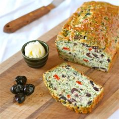 Savory Olive Quick Bread ... Must figure out vegan substitutes ....so loaded with veggies, it's practically a salad | Adventures of the Yankee Kitchen Ninja via foodgawker