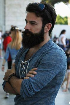 Bearded and hairy : Photo