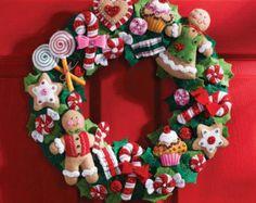 Bucilla Navidad juguetes guirnalda fieltro Kit por StitchWithSarah