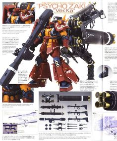 MG 1/100 PSYCHO ZAKU Ver.Ka THUNDERBOLT: ULTIMATE POST. FULL INSTRUCTIONS MANUAL SCANS, OFFICIAL IMAGES, Info http://www.gunjap.net/site/?p=317173