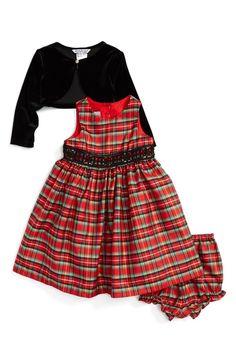 17367f9db Rare Editions Baby Girls Velvet   Flocked-Mesh Dress