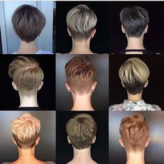 Today we have the most stylish 86 Cute Short Pixie Haircuts. We claim that you have never seen such elegant and eye-catching short hairstyles before. Pixie haircut, of course, offers a lot of options for the hair of the ladies'… Continue Reading → Short Hair Cuts For Women, Short Hairstyles For Women, Hairstyles Haircuts, Back Of Short Hair, Style Short Hair Pixie, Short Hair For Round Face Plus Size, Undercut Hairstyles Women, Funky Short Hair, Short Neck