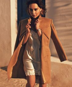 Emilia Clarke is a total Hollywood siren in this gorgeous editorial by Alexi Lubomirski for Elle magazine.