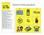 Song Board - Wheels on the Bus –