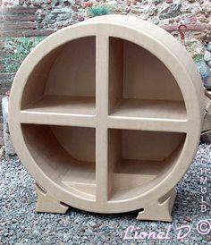meuble circulaire en carton Cardboard Box Storage, Cardboard Design, Cardboard Paper, Cardboard Furniture, Recycled Furniture, Unique Furniture, Storage Boxes, Diy Furniture, Paper Mache Diy