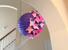 """8"""" Mixed Berries, paper lantern, butterfly lantern, princess room decor, butterfly party, butterfly birthday, butterfly decor, room decor by New8eginnings on Etsy"""