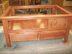 diy train table with coffee table top insert plans -- cover up the