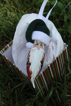 Bulbs Hand Painted Santa Light Bulb Ornament by DesignsbyJodyRife - Light Bulb Art, Light Bulb Crafts, Painted Light Bulbs, Christmas Light Bulbs, Christmas Ornaments To Make, Holiday Crafts, Christmas Decorations, Painted Ornaments, Christmas Paintings