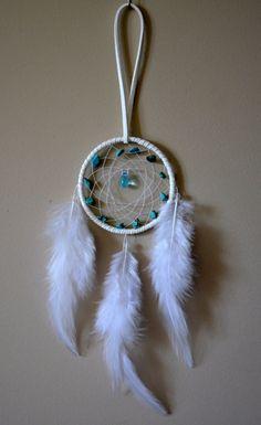 Miniature White Suede Dream Catcher with by DreamySummerNights, $5.00