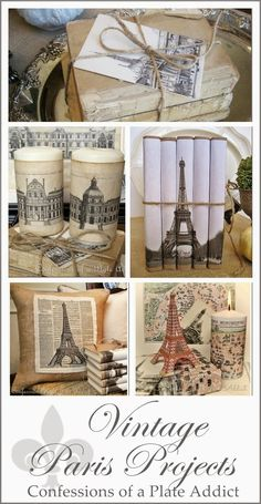 My Favorite Vintage Paris Projects - Debbie @ Confessions of a Plate Addict Paris Room Decor, Paris Rooms, Diy Room Decor, Paris Theme Bathroom, Bedroom Decor, Room Decorations, French Decor, French Country Decorating, Parisian Bedroom