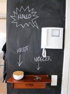 Via Mille Marie | Black and White | Hallway | Blackboard