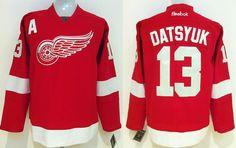 NHL Jersey Detroit Red Wings #13 datsyuk Red Jersey