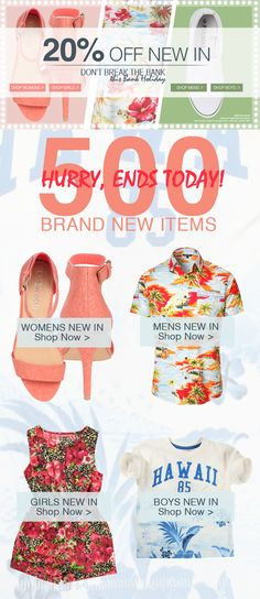 HURRY! OFFER ENDS TODAY! Get 20% Off Brand New Items