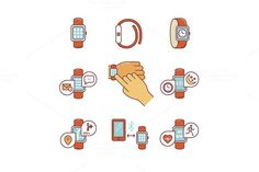 Modern smart watches