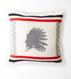 Natural Pendleton Heroic Chief Throw Pillow
