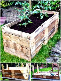 Pallet Planter - DIY Garden Projects - 101 DIY Ideas to Upgrade Your Garden - DIY & Crafts
