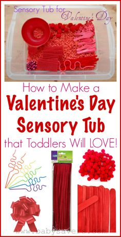 How to make a Valentines Day sensory tub that toddlers will love