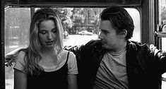 Before Sunrise: Ethan Hawke and Julie Delpy. Before Sunrise Trilogy, Before Sunrise Movie, Before Trilogy, Before Sunset, Julie Delpy, The Great Escape, Before Midnight, Romance, Romantic Movies