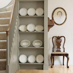 12 entrance hallway design ideas for your home - sofa workshop Decoration Hall, Sofa Workshop, Grey Hallway, Teintes Pastel, Hallway Designs, Hallway Ideas, Flur Design, Hallway Furniture, Built In Bookcase