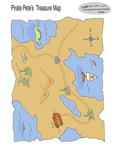 Activities: Draw a treasure map  Follow a map on a scavenger hunt