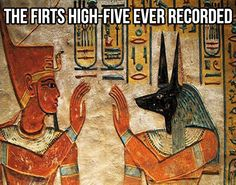 The first high five in history