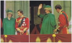 June 12, 1982: Prince Charles Princess Diana on the balcony of Buckingham Palace for the Trooping the Colour ceremony.
