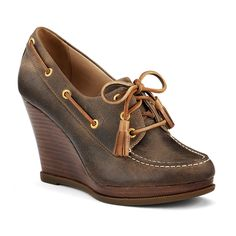 Loving these Sperry wedges...can channel my inner Kate Middleton and wear with cute ankle jeans