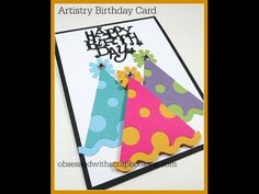 Artistry Cricut Birthday Party Hat Card - YouTube