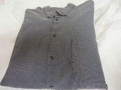 GIORGIO ARMANI CLASSICO Vintage Shirt 43/17 Italy Black/Charcoal Black Label