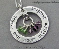 Family Necklace  Personalized Jewelry  by DivineDesignJewelers, $78.95