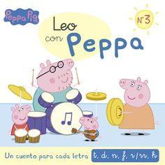 """Os contos de Peppa Pig para aprender a ler """"Leo con Peppa"""" son un sistema divertido e moi accesible para que os máis pequenos empecen a dar os seus primeiros pasiños no mundo da lectura Peppa Pig, Leo, Spanish Lessons, Book Lists, My Books, Family Guy, Fictional Characters, Products, Short Stories"""