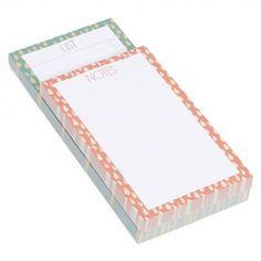 Raindrop list pad set of 2