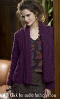 Eggplant Jacket free crochet pattern