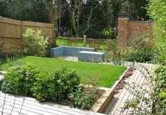 Sloping downhill garden