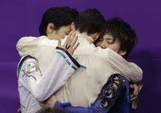 2018 PyeongChang Olympic Podium Mens Single Figure Skating Yuzuru Hanyu, Shoma Uno, and Javier Fernandez 2018 Winter Olympic Games, 2018 Winter Olympics, Yuzuru Hanyu Javier Fernandez, Nathan Chen, Shoma Uno, Ice Skaters, Hanyu Yuzuru, Japanese Culture, Figure Skating